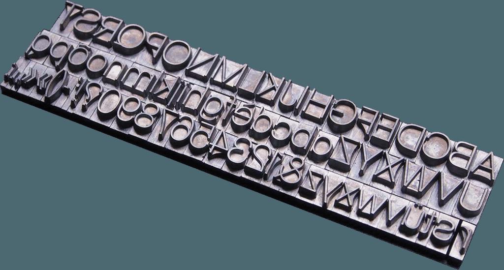 История пяти шрифтов